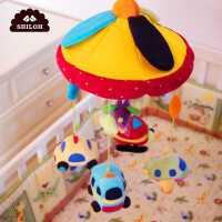 成品婴儿床铃生肖玩具新生儿音乐旋转毛绒布艺安抚床头铃