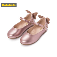 【每满200减100】巴拉巴拉童鞋女童单鞋公主鞋2018新款秋季小童儿童皮鞋甜美休闲鞋