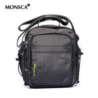 MONSCA/摩斯卡商务休闲包 多功能防水运动包耐磨竖款尼龙包男士单肩背防水牛津布旅行手包