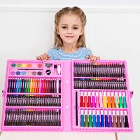 儿童绘画套装小学生画笔套装绘画工具画画笔礼盒水彩腊笔文具礼物
