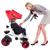 折叠儿童三轮车婴儿手推车1-3岁脚踏车宝宝自行车