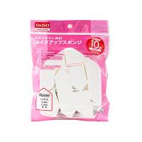 【网易考拉】Daiso 大创? 多功能干湿两用五角菱形海绵粉扑 10枚/包