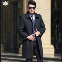 逸纯印品(EASZin)男式毛呢大衣 2016秋冬长短款可选韩版翻领单排扣毛呢大衣外套