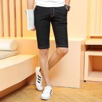 夏季薄款大码牛仔短裤男直筒5分马裤青年五分裤男休闲中裤