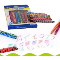 儿童迷彩蜡笔可水洗宝宝画笔彩笔涂鸦笔幼儿旋转油画棒
