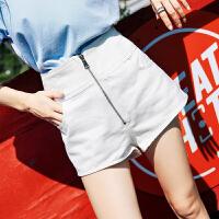 高腰牛仔短裤女夏2018新款韩版百搭宽松学生显瘦春季装直筒热裤子