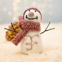 圣诞节装饰品雪人娃娃公仔创意桌面摆件圣诞树挂件儿童圣诞礼物
