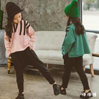 童装女童秋装套装新款韩版纯棉儿童卫衣哈伦裤运动套潮衣