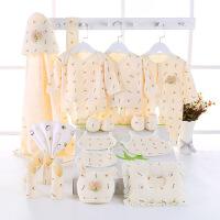 彩棉城堡 童装新款婴儿礼盒新生儿套装鞋子21件套四季款礼盒