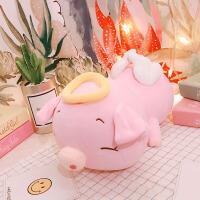 20180702122335320创意可爱天使猪抱枕小猪猪公仔布娃娃玩偶毛绒玩具趴趴猪礼物女生 粉红色 粉色
