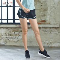 韩版跑步运动短裤女夏季速干内衬健身瑜伽裤弹力热裤假两件防走光