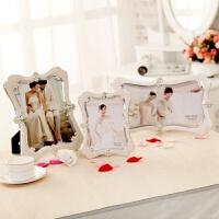 相框7寸10寸6x12寸影楼专卖欧式水晶珍珠摆台婚纱照创意画框 天使白色