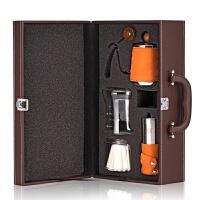 咖啡壶套装 手冲壶细嘴细口壶滴漏滴滤壶磨豆机 美式礼盒装 棕色