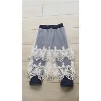 秋季童装童裤 女童女宝宝蕾丝裙裤加绒打底裤