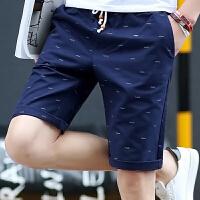 韩观沙滩裤男士五分裤春夏季男裤休闲裤潮牌裤子宽松运动裤短裤男