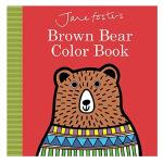 【预订】Jane Foster's Brown Bear Color Book棕熊色彩书 英文儿童启蒙认知绘本