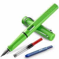 LAMY/凌美safari狩猎者系列苹果绿钢笔F尖/M尖/A尖钢笔/墨水笔  秘密花园 为年轻人设计、特殊、有个性的笔款,充分展现出年轻人的勇气及活力,采用ABS笔身、色彩丰富,颜色亮丽,不仅是可以作为书写工具