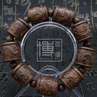 皮木雕刻貔貅沉香木十八罗汉手串佛珠男女款手链108文玩