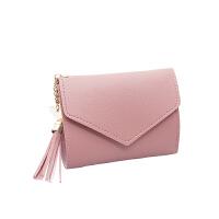 小钱包女短款学生韩版可爱零钱包迷你小清新多功能折叠卡包皮夹子