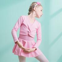 加绒加厚儿童舞蹈服冬季长袖女童舞蹈衫外套毛衣小女孩练功服衣服