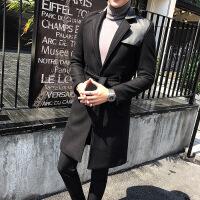 冬装英伦高档长款毛呢大衣男商务韩版修身型男士呢料风衣男装外套