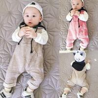 女婴儿男宝宝春装套头卫衣服裤子套装新生儿0岁6个月秋装8冬季