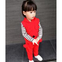 女宝宝套装0-1-3岁女小童春秋韩版纯棉衣服2婴儿公主洋气三件套潮