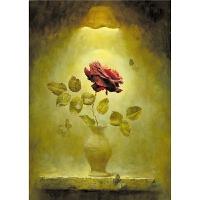油画玄关装饰画 玫瑰之梦1000木质拼图2000片玩具礼物