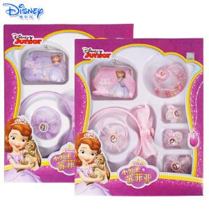 迪士尼苏菲亚儿童发饰套装女孩发夹女童发箍宝宝头饰