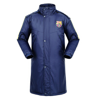 巴萨冬季男女运动大衣加长款儿童足球训练服户外防风羽绒棉衣