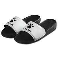 KELME卡尔美 kmx160004 男女通用款防滑软底运动拖鞋 室内居家浴室休闲凉拖鞋