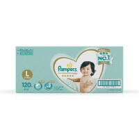[当当自营]帮宝适 日本进口一级纸尿裤 大码L120片(9-14kg) 箱装