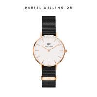 Danielwellington丹尼尔惠灵顿DW女学生手表黑色织纹带简约石英表