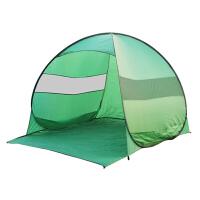 全自动儿童帐篷户外3-4人家庭简易账逢快速开钓鱼帐篷户外防雨鹏 翠绿色 墨绿色