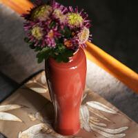 经典仿古颜色釉净水观音瓶高白霁红翡翠绿瓷瓶礼佛清供桌上花器