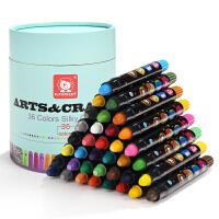 【满199减100】特宝儿宝宝画笔无毒可水洗旋转儿童蜡笔幼儿画画笔涂鸦涂色笔油画棒36色