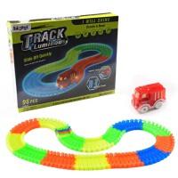 儿童电动轨道车玩具 早教益智DIY拼装彩色夜光百变轨道组合
