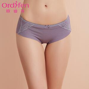 【满199减100】欧迪芬女士内裤 新品蕾丝蝴蝶结性感三角中腰女士内裤XK7201