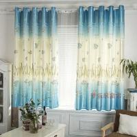 窗帘成品飘窗短帘半帘 半遮光布卧室阳台窗帘2米高可定制J