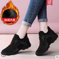 黑色运动鞋女跑步鞋户外新品韩版百女鞋子小黑鞋休闲鞋