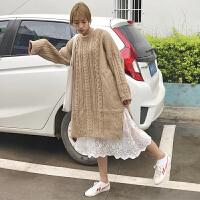 韩国蕾丝打底裙内搭秋冬季中长款女内衬裙无袖连衣裙吊带背心裙女