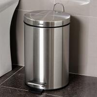 欧润哲 时尚不锈钢砂光垃圾桶缓降静音 防指纹手提带盖客厅清洁桶垃圾篓