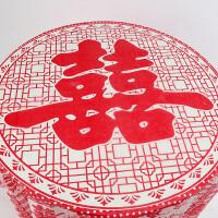 20181016160753963结婚庆用品一次性桌布10片 红色婚礼喜庆宴会加大加厚塑料台布 喜字桌布10片