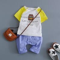 童装0-1-2-3岁婴儿短袖T恤上衣男童装夏天衣服因幼儿上衣
