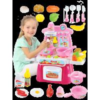 贝恩施过家家厨房玩具儿童做饭煮饭厨具餐具 女孩过家家玩具套装