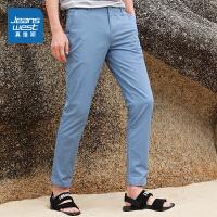 真维斯男装 2021夏装新款 弹力斜纹布斜插袋休闲裤