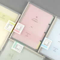 A5分类活页本可拆卸B5小清新创意可爱学生用韩版活页夹A4活页笔记本办公记事本文具可换替芯读书少女心日记本