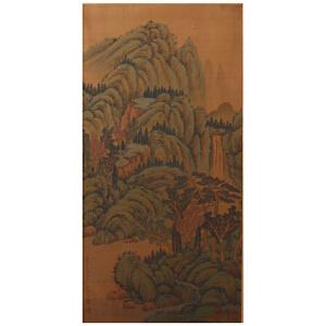 C1427余省《溪山远岫图》(王仁堪、张謇、王寿鹏等三人提拔,并有多位名家收藏印章。)