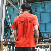 男士短袖T恤2018夏季新款青少年字母印花半袖男圆领上衣