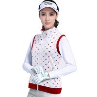 20180406164059657 高尔夫服装 女士外套 防风衣马甲 Golf 印花运动背心